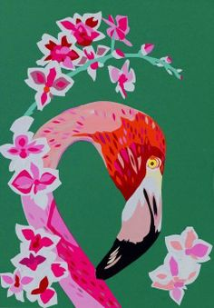 FLamingos and Flowers Limited Edition Giclee Art Print | Contemporary Art. Design Gifts. Ideas. | Everything Begins
