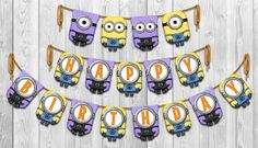 Despicable Me 2  Inspired Yellow & Purple Minion by Shnookers, $8.00