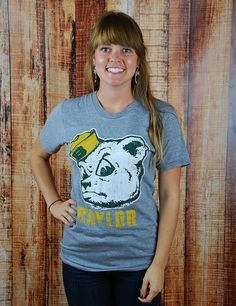 This is such a simple yet statement setting t-shirt! Show your love for your #Baylor Bears!