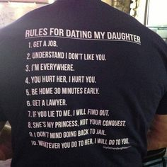 little girls, father day, parenting done right, future husband, fathers day gifts, daddys girl, father daughter, the rules, shirt