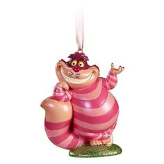 Alice in Wonderland's Cheshire cat  Disney Ornament.  $19.99 cheshir cat, cheshire cat, cat disney, wonderland cheshir, alice in wonderland, cat ornament, disney ornaments, christma ornament, christmas ornaments