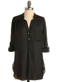 Pam Breeze-ly Tunic in Black, #ModCloth