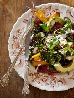 Roasted Carrot & Avocado Salad