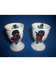 Golly Gollies Design China Egg Cups x2
