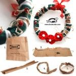 IKEA BAG Christmas Wreath