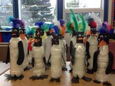 penguins...made with 100 cotton balls?