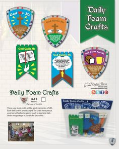 Thematic Daily Foam Crafts - prepackaged, easy-to-do (limited quantities available)