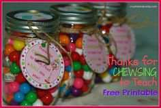 Teacher Appreciation: Thanks for Chewsing to Teach {Free Printable}