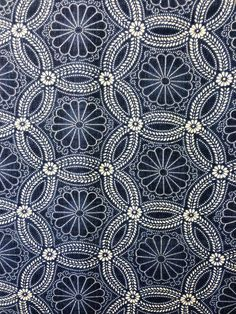 Moda Fabrics Kasuri Collection Kasuri Medallions Indigo blue yardage