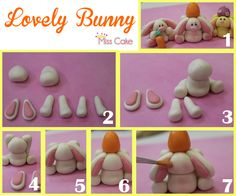 fondant bunny tutorial - sugar art
