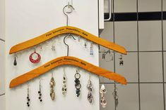 Jewelry hanger for earrings ... easy enough to make