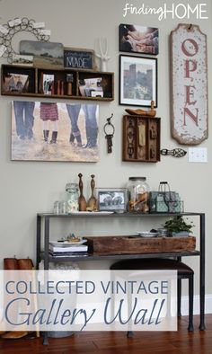 Get those treasures out of the attic and use them to create a unique gallery wall!    www.findinghomeonline.com