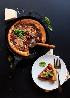 Deep Dish Roasted Vegetable Pizza | 30 Delicious Things To Cook In September