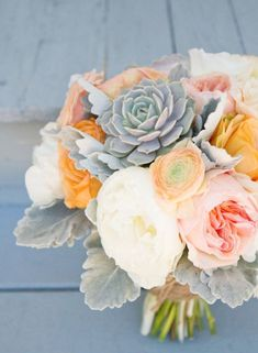 #grey #peach #bouquet
