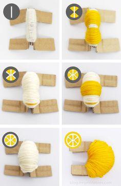 DIY pompon citron