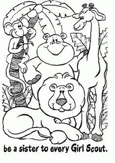 coloring pages - Girl Scout Sisters
