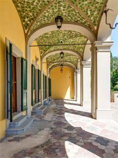 Beautiful veranda in this tuscan villa