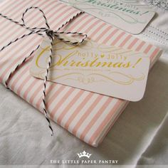 Pink stripes are among my favorite.  The black baker's twine adds just the right touch, too!