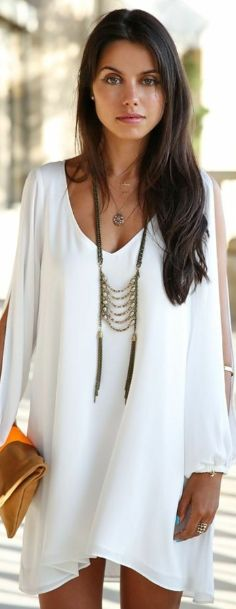 White Midi Dress For Summer