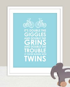 Cute! Giggles & Grins Art Print for Twins Nursery 8x10- Name Personalized for Kids and Baby    @Steffanie Mathes Mathes