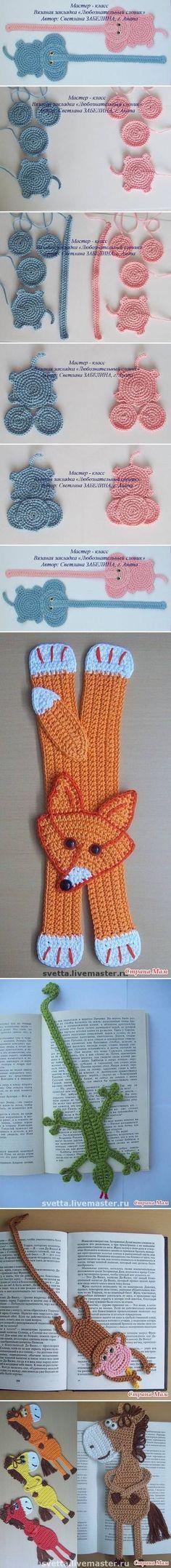 DIY Crochet Elephant Bookmark DIY Projects | UsefulDIY.com fox, crocheted animals, crochet animals, crochet eleph, crochet bookmarks, craft ideas, diy projects, crafts, eleph bookmark