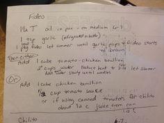Diane's Sopa / Fideo Recipe