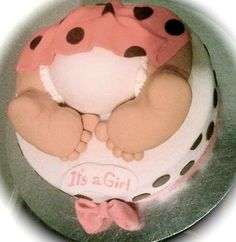 Baby bottom cake!  -cheetah print