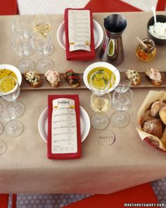 Wine Tasting Dinner Ideas