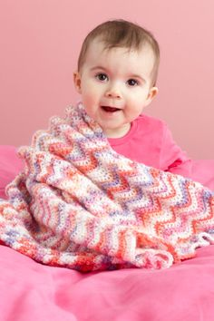 free crochet pattern: Ripple Baby Throw