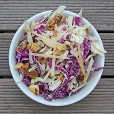Detox deliciously with an apple and cabbage salad!