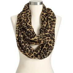 Old Navy Womens Leopard Print Infinity Scarves ($15) found on Polyvore
