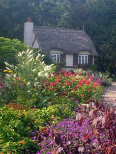 Crofter's cottage in the English Gardens at Assiniboine Park, Winnipeg, Manitoba.