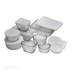 Anchor Hocking storage is perfect for leftovers! kitchens, anchors, kitchen storage, piec kitchen, hock storag, anchor glass, 16 piec, storag set, anchor hock
