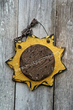 Sunflower Primitive Fall Decor Rustic Harvest by therustygoose, $15.95