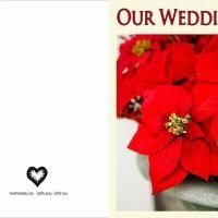 Printable Red Poisenttia Blank Wedding Invitation - FreePrintable.com