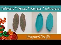 Polymer Clay Feather Mold N Stamp Big Announcement & Butterfly & Leaf Cutters