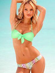 This bright neon green bikini will make everyone spot you and wish they were you!   Bikinis, $49 & Under