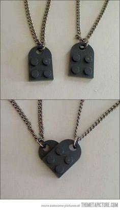 cute lego best friends/couple necklaces
