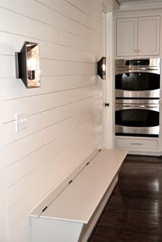 Tone on tone kitchen. Mudroom area. CS Interiors. -via Interior Canvas