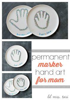 diy permanent marker hand art