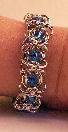 Chainmaille Bracelet With Swarovski Chrystals