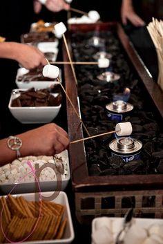 fire pits, wedding receptions, dessert buffet, summer bbq, outside wedding, groom cake, dessert station, dessert bars, outdoor weddings