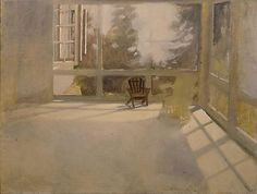 mind art, main art, 1955, fairfield porter, armchairs, porches, fairfield potter