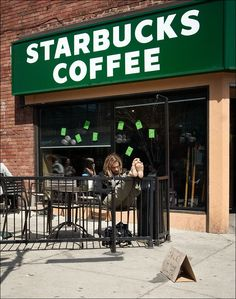 Starbucks coffee--anywhere--and a good book . . .