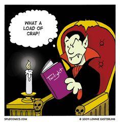 Dracula reads Twilight HAHAHAHAHA