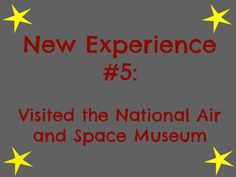 The National Air and Space Museum in Washington, D.C.... one of my favorite museums!