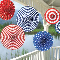 American Summer Fans from Windy City Novelties 4th of July decor ideas #4thofJuly For front porch?