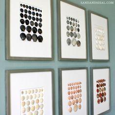 wall art, sand, shells, craft, frame, beach houses, seashell art, bathroom, beach inspired