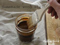 Homemade wood stain!