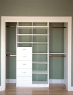 General layout, but only one middle column, combined with the shoe racks on the sides